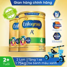 [FREESHIP 30K TOÀN QUỐC] Bộ 2 lon sữa bột Enfagrow A+4 1.75kg + Tặng 1 xe ba bánh màu xanh cho bé – Cam kết HSD còn ít nhất 10 tháng