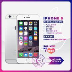 (FLASH SALE GIẢM 150K) Điện thoại Apple iPhone 6 – 16GB -32GB – 64GB QUỐC TẾ FULL BOX, Cảm ứng Vân Tay, Pin Trâu, Camera Nét,Ios 12 Tặng phụ kiện Bảo hành 6 tháng MR CAU
