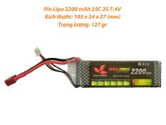 [HCM]Pin LIPO 2200 MAh 7.4V 25C 2S