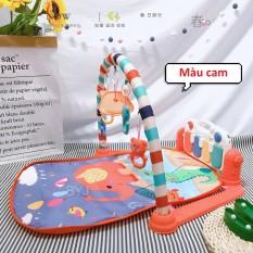 [Có video] Thảm nhạc COn VOi có dây sạc điện và sử dụng pin, có thể tháo rời và xoay được, tiện lợi cho bé ngồi chơi và cầm chơi, cho bé nằm chơi có đàn piano và đèn