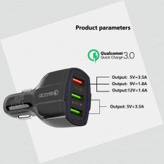 Củ Sạc Xe Hơi QC3.0 Huawei 3 Cổng Sạc Nhanh Mới dành cho điện thoại thông minh tẩu sạc nhanh, củ sạc xe hơi 3 cổng mẫu mới