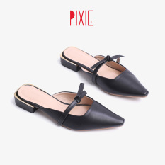 Giày Sục 3cm Mũi Nhọn Nơ Thắt Pixie X674