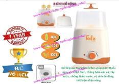 Máy hâm sữa và tiệt trùng 02 bình cổ rộng thế hệ mới FATZBABY FB3012SL (giảm thiểu nguy cơ chập điện, tiết kiệm điện năng) (Tốt và rẻ so với: Avent, Babymoov, Kenjo, Kuku, Beurer, Rozabi, Chicco, Farlin, Medela, Dr Brown, Nuk, Gluck) (Hot)