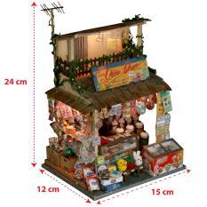 Mô Hình Gỗ Sài Gòn Xưa Thu Nhỏ DIY – Tiệm Sạp Khô – Mã SP: SG01