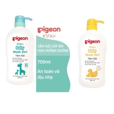 Sữa tắm gội toàn thân Pigeon 2 trong 1 cho bé dung tích 200ml, 700ml sữa tắm cho da nhạy cảm không cay mắt – BEEKIDS PLAZA