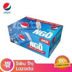 """Thùng 24 Lon Nước Ngọt Có Gas Pepsi phiên bản """"NGÕ"""" đặc biệt (245ml/Lon)"""