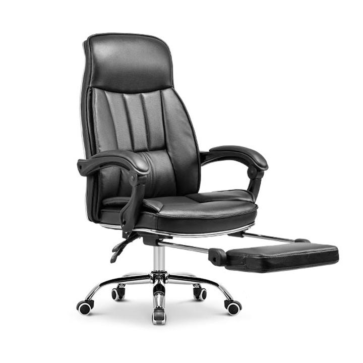 Ghế làm việc, Office chair, ghế giám đốc, trưởng phòng, ghế da văn phòng chân xoay cao cấp 2 màu lựa chọn đen, nâu. Có gác chân khi ngả ghế thư giãn nghỉ ngơi.