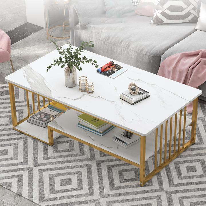 ( HOT )Bàn trà sofa, bàn trà gỗ hai tầng đặt phòng khách. mặt bàn gổ 3 lớp KT 100x60x42 cm
