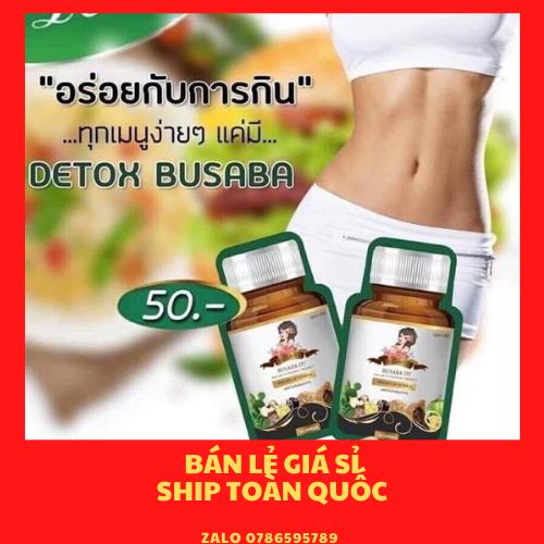 Viên uống giảm cân detox Busaba (chuẩn thái)
