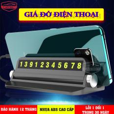 Giá đỡ điện thoại thông minh đa năng 3 trong 1 đế chống trượt có bảng số điện thoại tiện lợi khi dừng đỗ xe – CAR35