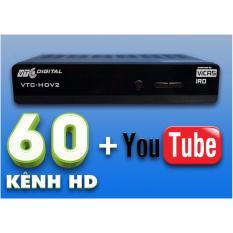 Đầu Thu VTC HD V2 (Có 4 Tháng Thuê Bao) Dùng Chảo,Kết Nối Youtube