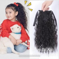 [3 màu] Cột tóc giả cho bé xoăn xù, tóc giả cho bé gái