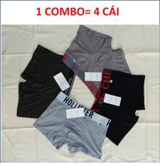 COMBO 4 QUẦN SỊP ĐÙI, QUẦN BOXER NAM COTTON- HÀNG VN ( ẢNH THẬT)