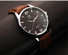 Đồng hồ nam dây da Yazole 318