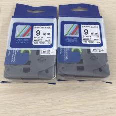 [ Combo 2 cuộn] Nhãn TZ2-FX221 siêu dẻo – Chữ đen trên nền trắng 9mm