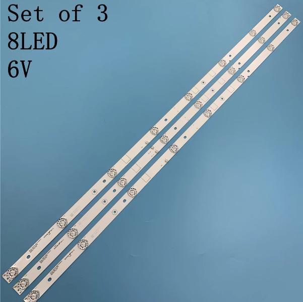 Asanzo 43EK7 (Cây giữa 2 socket) – Bộ 3 thanh 8 led 6v cho Tivi ASANO 43EK7 và một số dòng thông dụng