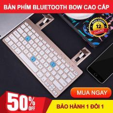 Ban phim choi game cho dien thoai, Bàn phím chơi game cho điện thoại. Bàn phím bluetooth Bow. Hỗ trợ kết nối 2 thiết bị trong 1, linh hoạt, sử dụng dễ dàng. Bảo hành uy tín 1 đổi 1 bởi JUNYSTORE