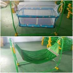 (deal sốc ) Nôi Điện Võng Xếp tự động Quang Hưng 2in1-cao cấp tặng màn chống muỗi