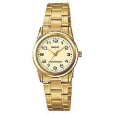 Đồng hồ nữ dây thép không gỉ Casio Anh Khuê LTP-V001G-9BUDF