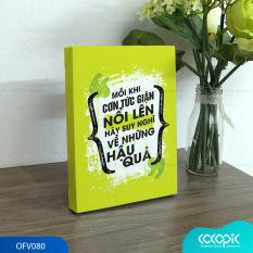 Tranh để bàn canvas slogan tạo động lực trang trí văn phòng Cocopic OFV063 – OFV082 20 mẫu tùy chọn