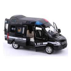 Xe ô tô cảnh sát đồ chơi trẻ em chạy cót có đèn và âm thanh xe mở được các cửa