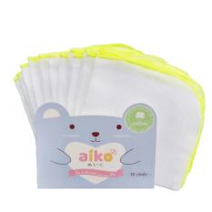 Khăn sữa Nhật Aiko 3 lớp mềm mịn cho bé sơ sinh kích thướt gói 10 chiếc – BEEKIDS PLAZA