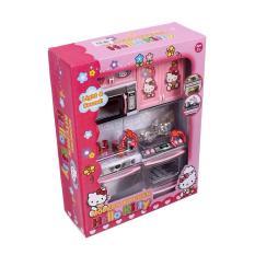Đồ chơi mô hình nhà bếp nguyên khối HK cao cấp có âm thanh và phát sáng – Đồ chơi bé gái dạy bé làm quen đồ dùng nhà bếp và tăng thẩm mỹ