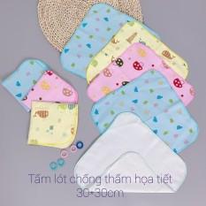 Set 10 Tấm lót chống thấm Họa tiết ĐÔ RÊ MON 2 lớp cotton cho bé (LOẠI MỚI )