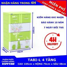 Tủ nhựa Duy Tân TABI-L 4 tầng (Lá Bình Hoa)