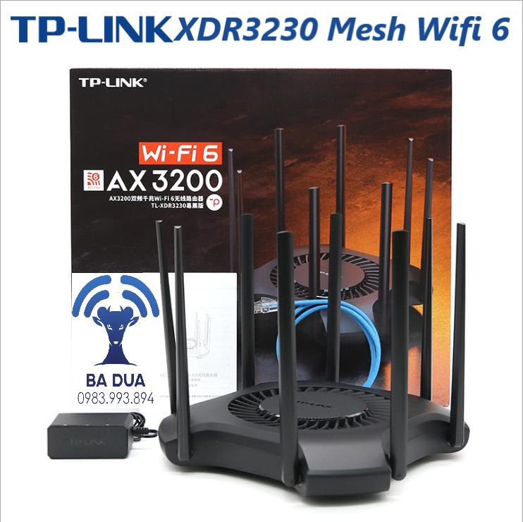 Bộ Phát Wifi Mesh Wifi 6 Gigabit Tplink XDR3230 AX3200