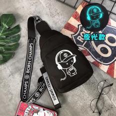 Túi đeo chéo music chất liệu vải bố bền bỉ, độc đáo và bắt mắt thích hợp cho học sinh, sinh viên, đi học đi làm