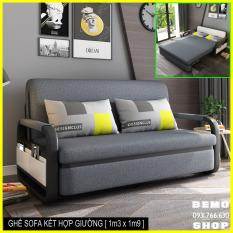 Ghế Sofa kéo ra thành giường, Ghế sofa tiện ích giúp tiết kiệm không gian.KT: 1m3 x 1m9 [ Có hộc đồ ]