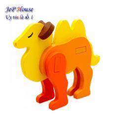 Bộ ghép hình gỗ con lạc đà 3D cho bé