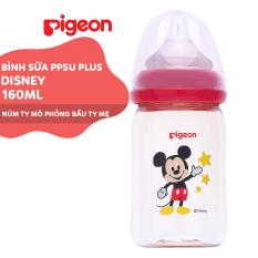 Bình sữa cổ rộng Disney PPSU Plus Pigeon 160ml (SS)