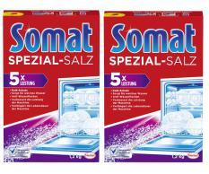 Combo 2 Muối Rửa Ly – Bát Somat Special Salt 1,2 Kg – Đức
