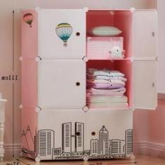 Tủ nhựa ghép 6 ngăn size lớn 47cm tủ quần áo tủ nhựa