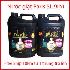 Nước Giặt Xả PARIS 5L Hương Nước Hoa 9in1 ( Mua 2 Can Tặng Khăn Lau Bếp Đa Năng)