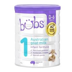 [DATE 2022] Sữa dê Bubs Organic 800gr số 1 dành cho trẻ 0-6 tháng tuổi – Dành cho trẻ bị dị ứng sữa bò, cơ địa nhạy cảm