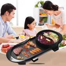Bếp lẩu nướng 2 trong 1 BBQ 2 dây nguồn riêng Unika G867 không khói công suất 3000W giup bạn có bữa ăn ngon hơn
