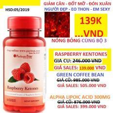 Viên uống hỗ trợ giảm cân an toàn Puritan's Pride Raspberry Ketones 60 viên HSD tháng 5/2019 *** GIÁ ĐẶC BIỆT 139.000VND**** Giảm giá kích cầu làm đẹp Noel và Năm mới 2019