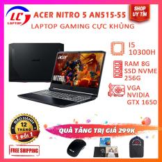 [FULL BOX] Laptop Gaming Cao Cấp Acer Nitro 5 AN515-55, i5-10300H, VGA Nvidia GTX 1650-4G, Màn 15.6 FullHD IPS, LaptopLC298