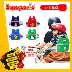 Đai Xe Máy Cho Bé Supeguardo thiết kế kiểu dáng balo thêu họa tiết đáng yêu cho bé -Đai an Toàn Từ Cho Bé Từ 1-5 Tuổi