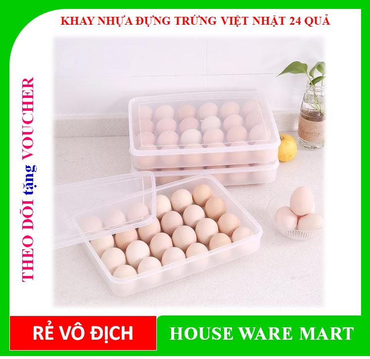 [ BÁN CHẠY] Khay đựng trứng, chống vỡ, tiện dụng – Nhựa Việt Nhật dung lượng 24 quả được làm bằng nhựa cao cấp, an toàn cho người sử dụng
