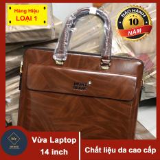 Túi da đựng laptop CDN42 DA CAO CẤP ĐỰNG LAPTOP 14 INCH