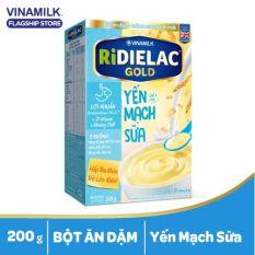[Trợ ship HCM & HN] Bột ăn dặm Vinamilk Ridielac Gold Yến mạch Sữa – Hộp giấy 200g giúp trẻ tăng cường sức đề kháng và phát triển não bộ