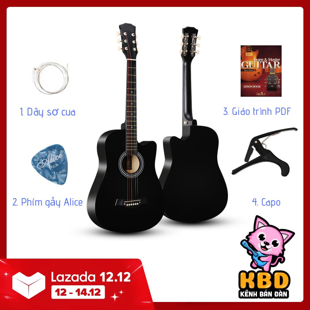Đàn Guitar Acoustic Cao cấp cho người mới tập chơi KBD MS 2021 + pick gảy giáo trình online hướng dẫn