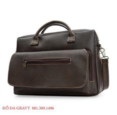 [BẢO HÀNH 12 THÁNG] Túi công sở, túi laptop 15,6 inch bằng da cao cấp