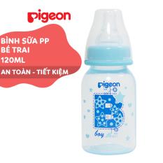 Bình sữa cổ hẹp PP cao cấp bé trai Pigeon 120ml (S)