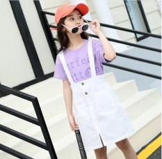 Set yếm và áo cotton cho bé gái từ 3 đến 14 tuổi – BY21