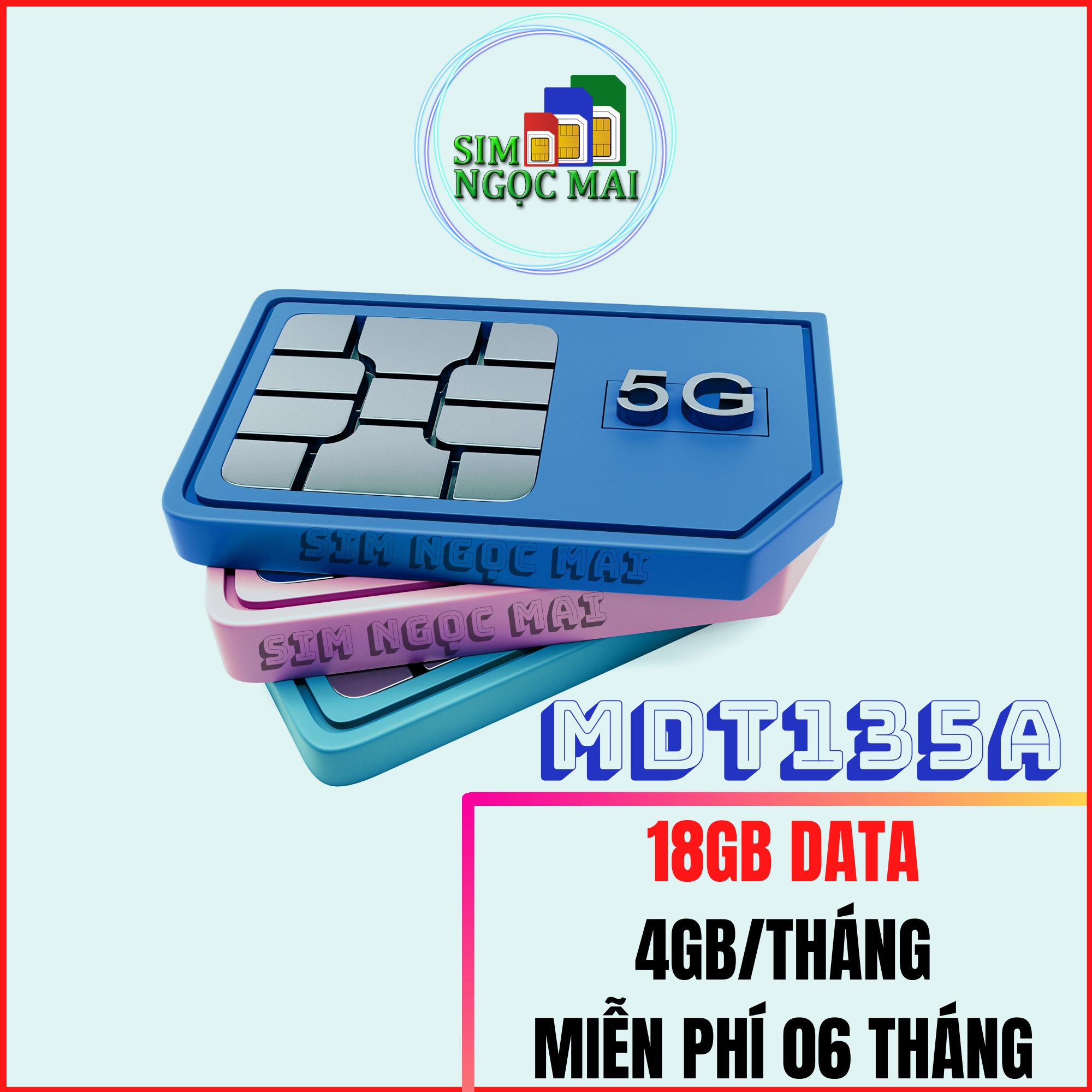 Sim 4G Mobifone Trọn gói 6 tháng MDT135A ( 3gb/Tháng) – MOBI MDT135A – SIM NGỌC MAI